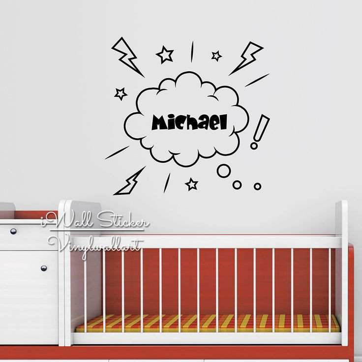 Children Name Wall Sticker Baby Nursery Name Wall Decal Personalized Name Stickers For Kids Room Cut Vinyl Stickers C13