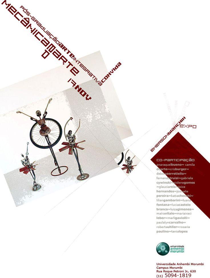 Flyer/convite desenvolvido para a Universidade Anhembi Morumbi | Expo Emerson Bianchi