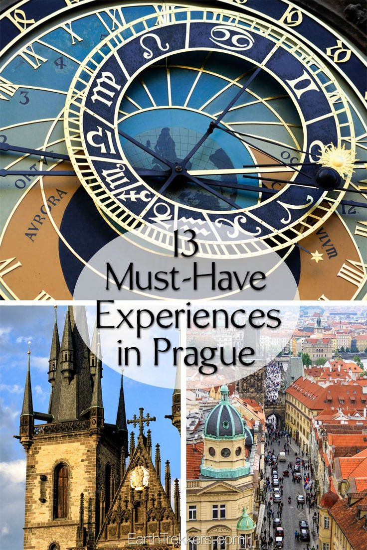 Best things to do in Prague, Czech Republic: Charles Bridge, Prague Castle, St Vitus Cathedral, climb the towers, drink beer, visit the Old Town Square.