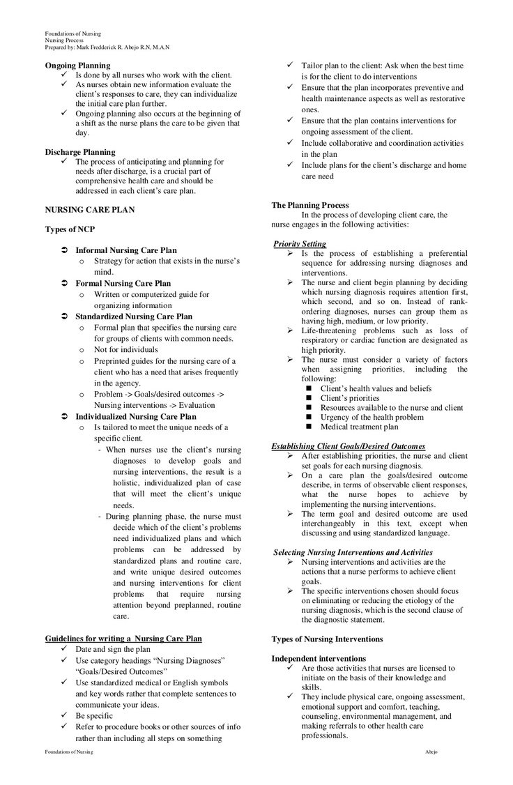 nurse process Nursing process assessment planning implementation evaluation data subjective objective documentation.