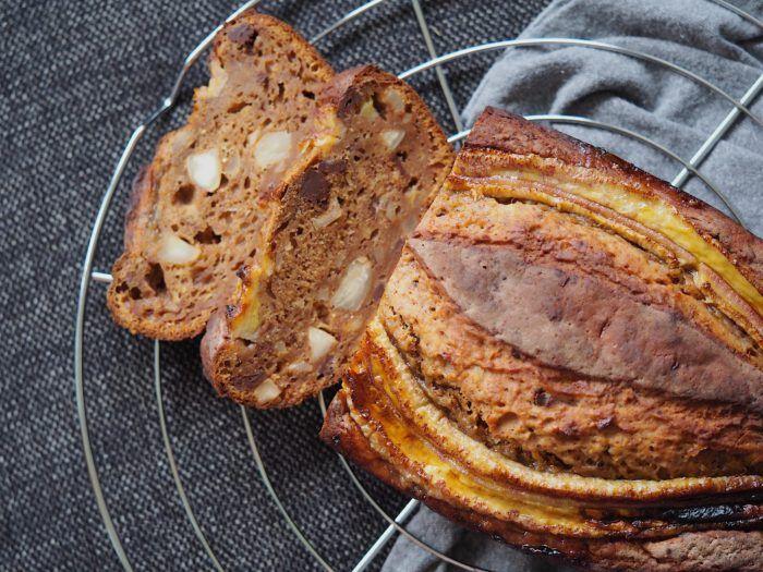 Lækkert bananbrød med chokolade og parnødder | En nem opskrift på brød med banan | Sundheds og livsstils blog