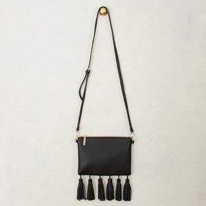 Many Tassels Zip Top Cross Body Bag