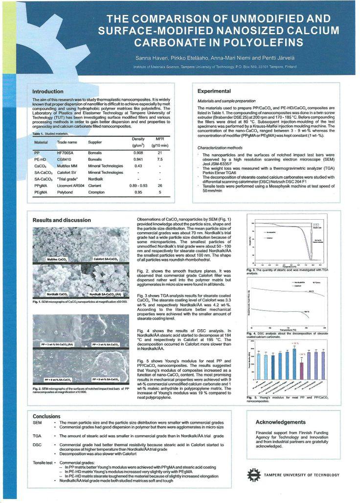 Posteri nanokokoisesta kalsiumkarbonaatista