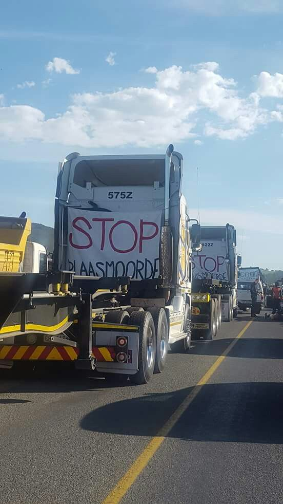 30/10/2017 Peaceful protest against farmmurders in South Africa.