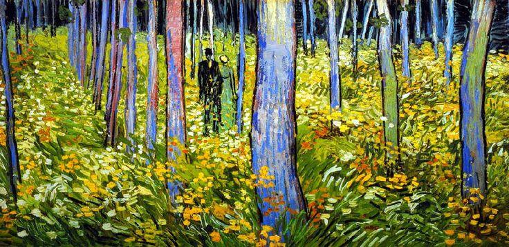 Vincent Van Gogh - Post Impressionism - Auvers - Sous-bois - 1890