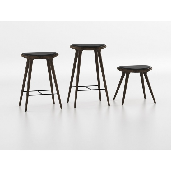 mater Bar Height Stool - Dark Stained Hardwood - Outlet Item (Condition: Opened box)