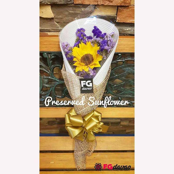 Preserved Sunflower Bouquet Www Fgdavao Com Send Flowers To Davao Philippines Bouquet Davao Flo Sunflower Bouquets Sunflower How To Preserve Flowers