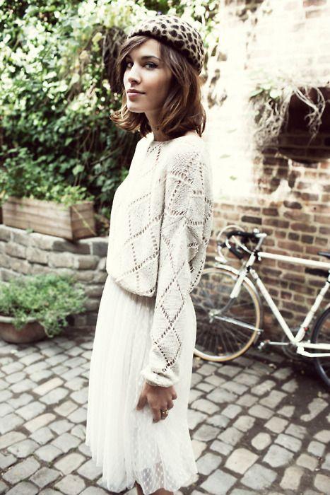 : White Sweaters, Skirts, Fashion Style, Vero Moda, White Outfits, Leopards Prints, Alexachung, Alexa Chung, Veromoda