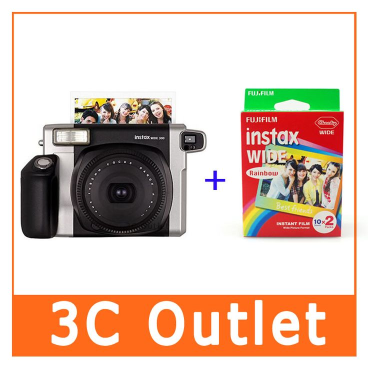 >> Click to Buy << Wholesale Fujifilm Instant Wide 300 Camera + Rainbow Wide Film , Free Shipping #Affiliate