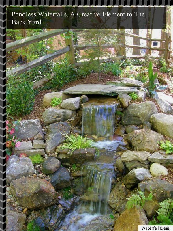*DIY Backyard Waterfall Projects* - DIY Backyard Waterfall Projects* Backyard Waterfalls Pinterest