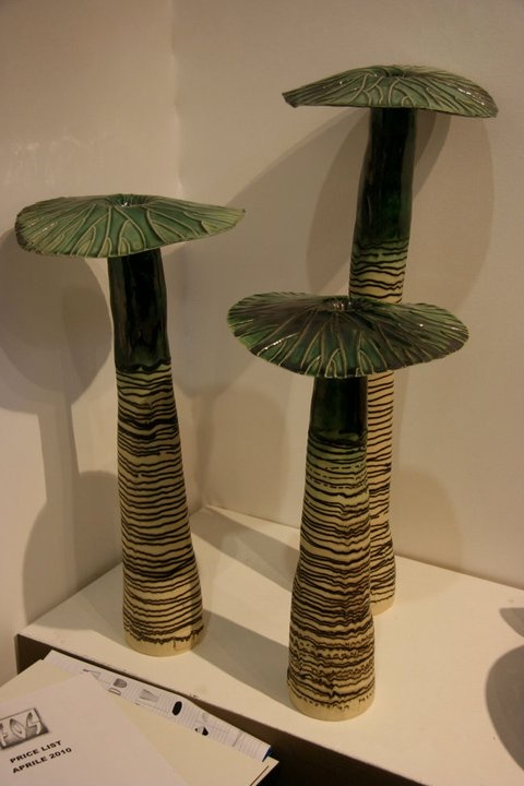 Ceramic shrooms.