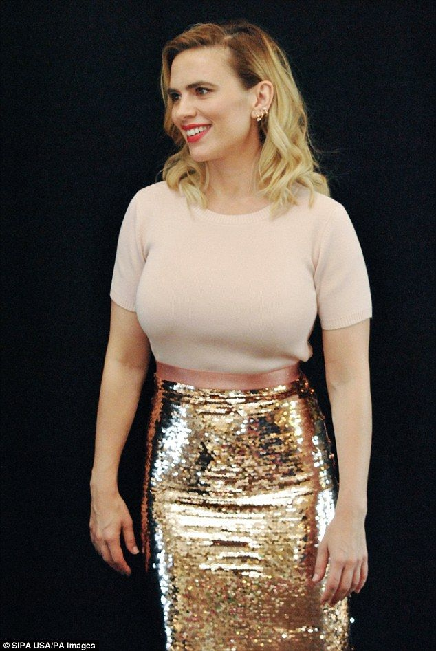 Online Carpets Uk >> Hayley Atwell dazzles in gold sequin skirt as she promotes new movie Christopher Robin   Hayley ...