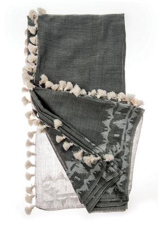 Grey + White Roxy Shawl
