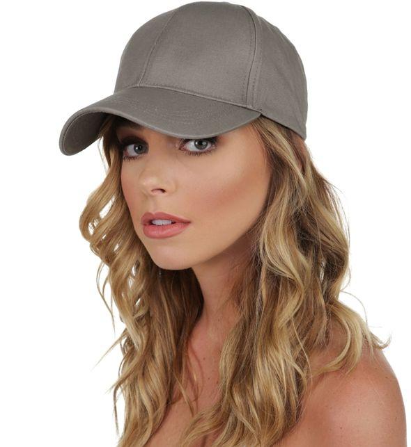Gray Designer Baseball Cap