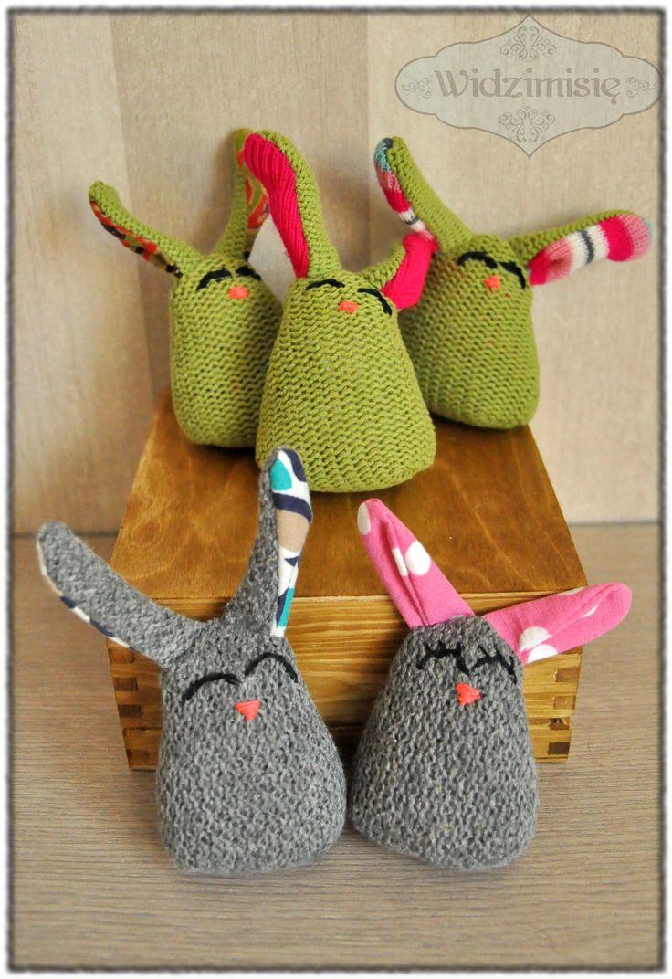 ręcznie szyte króliczki  #handmade #królik #gift
