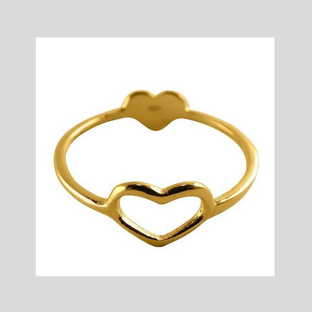 DOUBLE HEART RING #sterlingsilver #gold #rosegold Shop now by following the link in bio or check out the full range at correyandlyon.com.au