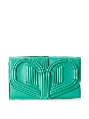 Bracher Emden Women's Heart Clutch (Green)