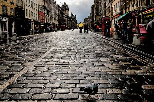 What I would give to be there right now....    The Royal Mile - Edinburgh, Scotland
