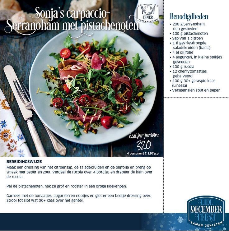 Sonja's carpaccio-Serranoham met pistachenoten - Lidl Nederland