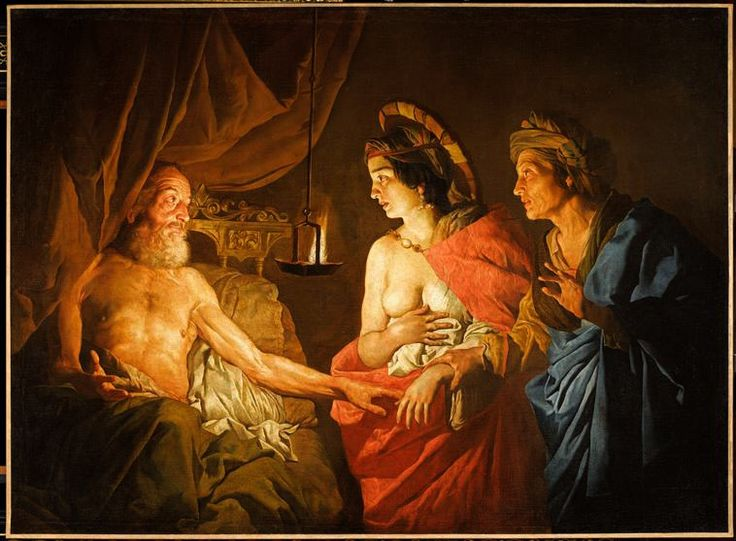 Matthias Stomer, Sarah amenant Agar à Abraham - Musée Condé, Chantilly