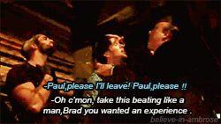Paul Heyman, Brad Maddox, and The Shield (GIF images)