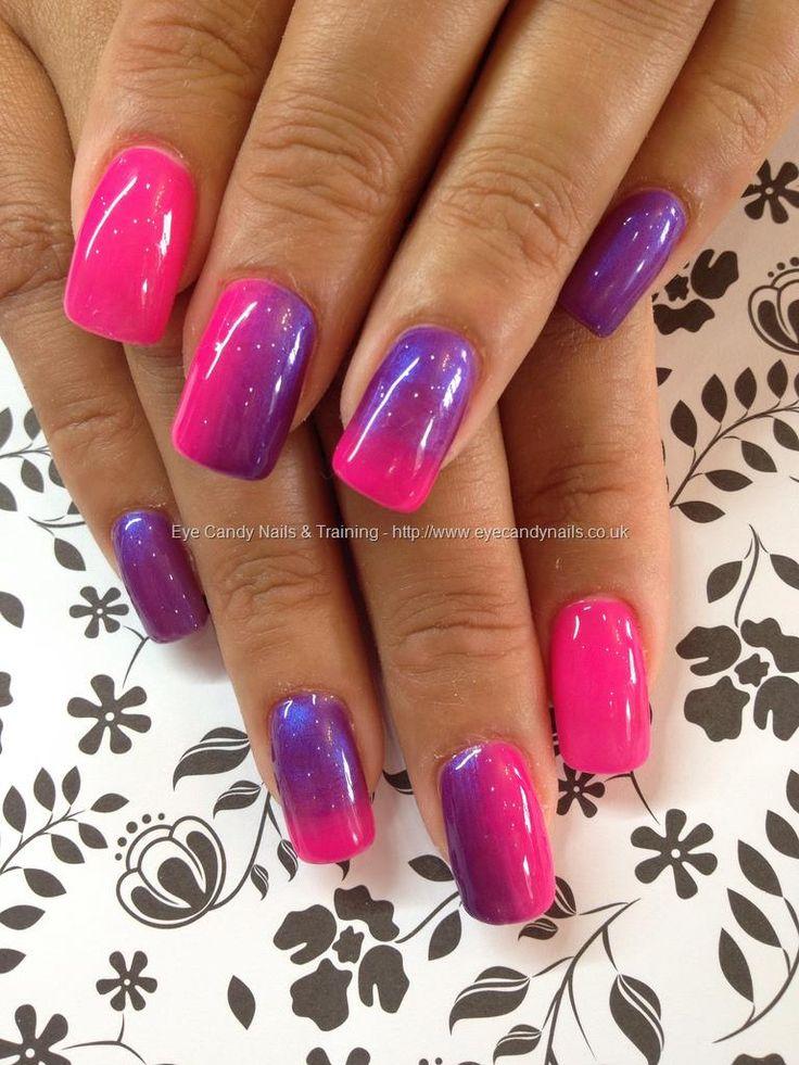 fading pink and purple #purple #nailart #nails #pink #fade