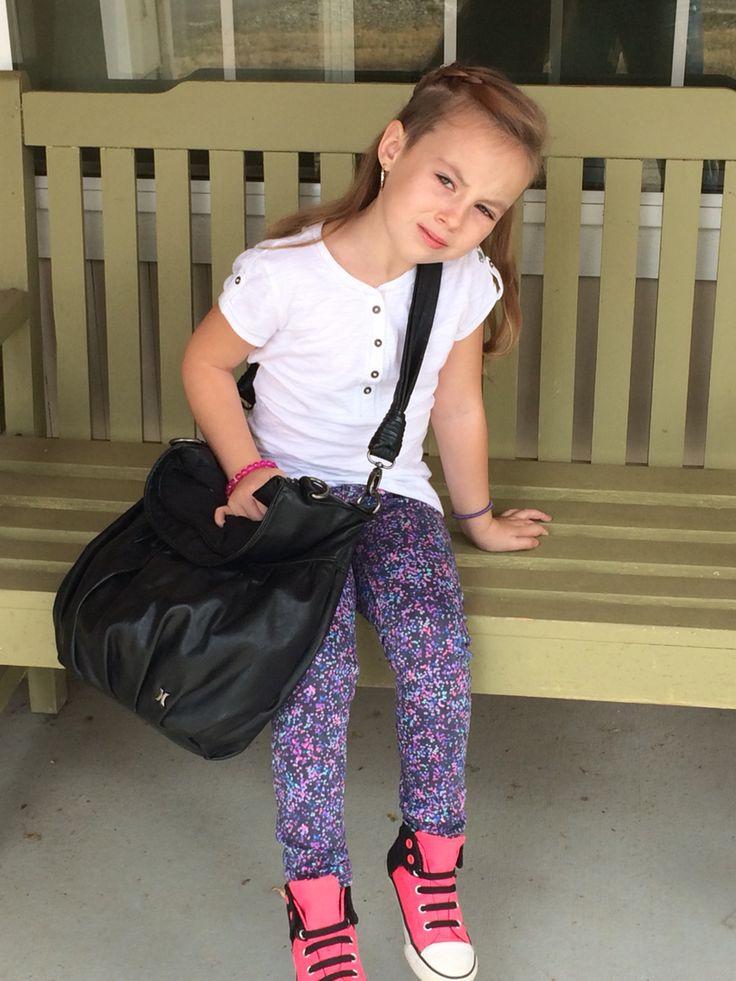 Kids with undercuts, girls fashion.