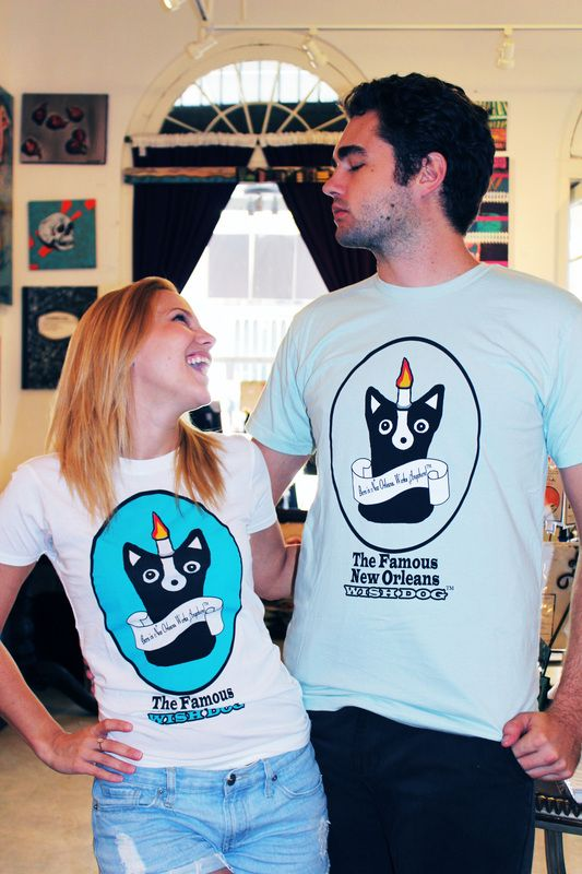 Laura Flannery & Ian Campbell, Wish Dogs Tee by Ally Burguieres