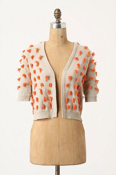 Tufted Dots Sweater. Super cute!