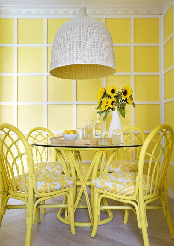 Sunshine Yellow: An Uplifting Hue Yellow is often associated with happiness and optimism because it can activate memory, stimulate the nervous system and promote creativity.