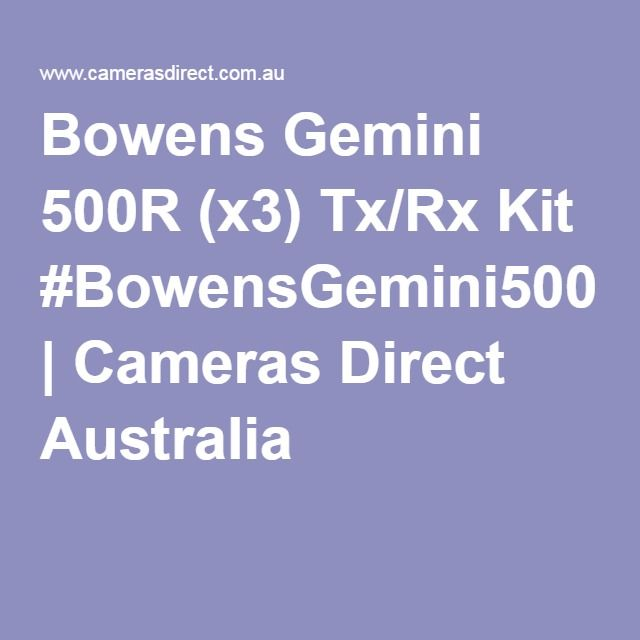 Bowens Gemini 500R (x3) Tx/Rx Kit #BowensGemini500RKit | Cameras Direct Australia