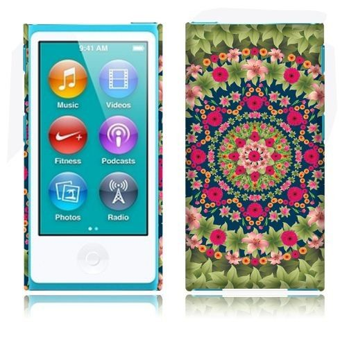 Handle a Apple iPod Nano 7 (7th Generation) Back Cover Case - Garden Mandela w/ a big smile|Acetag OMG just got a new nano and haven't seen any cute cases, except this one