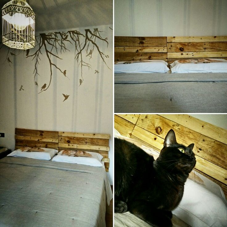 Testata del letto in pallet #bed #bedroom #newbed