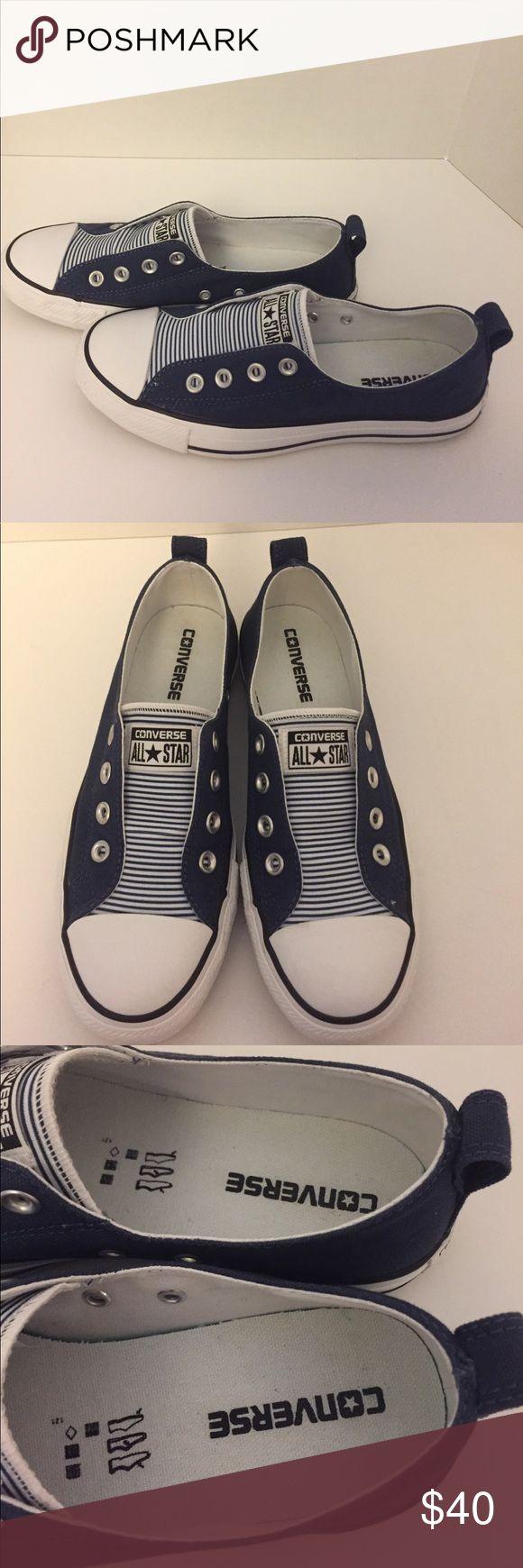 Converse All Stars Nautical Stripe SlipOn Sneakers Gently Worn - Converse All Star Nautical Stripe Slip-On Sneakers Converse Shoes Sneakers