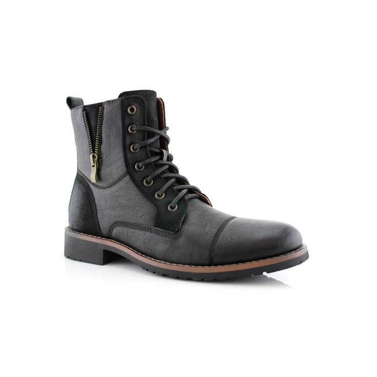 Ferro Aldo Reid MFA808561B Men's Combat Boots For Work or Casual Wear