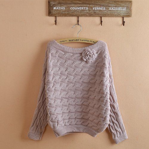 $29.99 nice Twisted Knit Sweater for Women pink