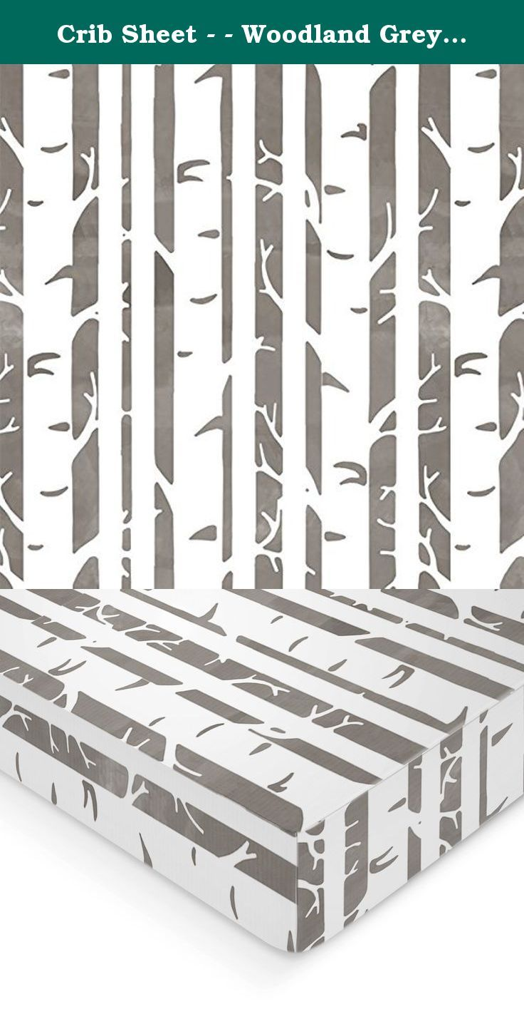 Crib Sheet - - Woodland Grey Birch Tree Print - - Wood Grain Print - - Fitted Crib Sheet - - Crib Bedding - Nursery Bedding - Baby Bedding. How perfect would this woodland birch tree print be to any woodland themed nursery, or the perfect baby shower gift! How rustic and perfect for your little blossom! All crib sheets and changing pad covers are fitted with elastic all the around for a secure fit and fit standard size mattresses. Handmade with cotton material. Also keep in mind that all...