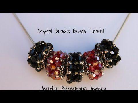 Birth stone beaded beads with a herringbone twist - YouTube