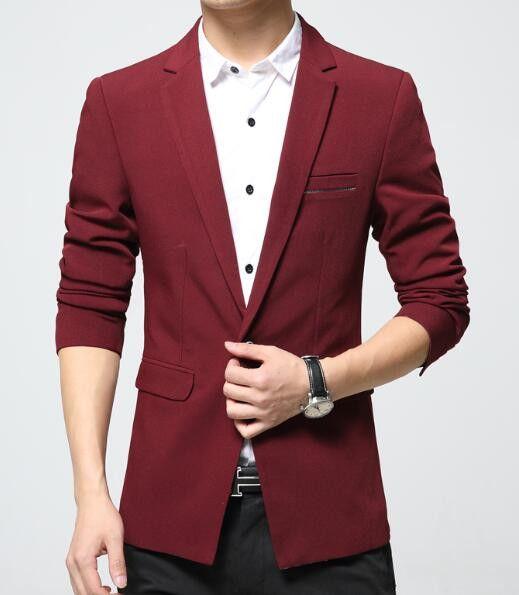 Men's Blazers, Slim Fit Casual jacket cotton