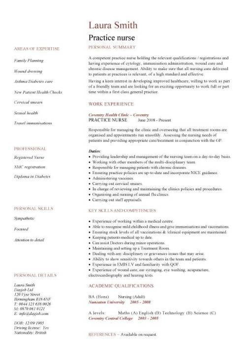 Cv Examples For Retail Jobs Uk Beautiful Stock Practice Nurse