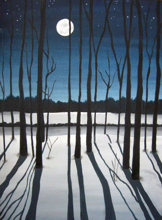 "Painting by Robbyn Moore    ""Though my soul may set in darkness, it will rise in perfect light;  I have loved the stars too fondly to be fearful of the night."" ~Sarah Williams~"