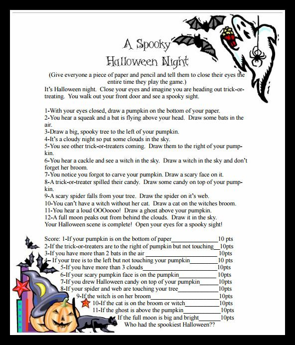 A Spooky Halloween Night Game from The Joys of Boys {Featured on OneCreativeMommy.com | Fantastic Halloween Class Party Ideas}