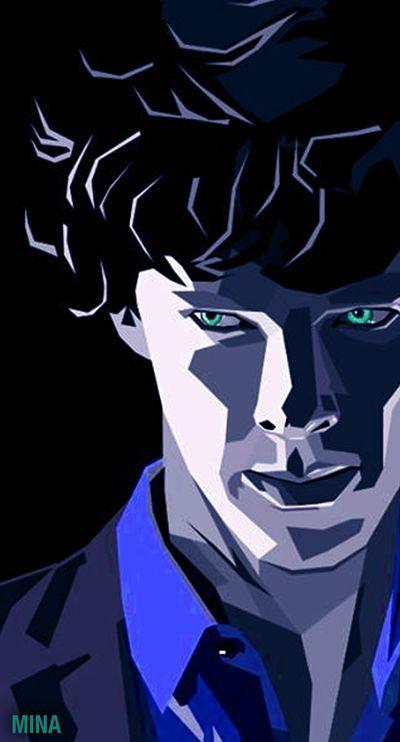 """Sherlock BBC"" WPAP Portrait  Fan Art Benedict Cumberbatch"
