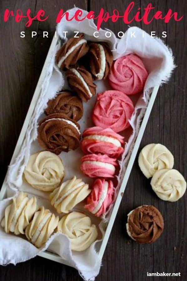 Show Your Love Through Sweet Cookies Shaped In Roses A Perfect Dessert Idea For Parties And Dinner Dates On Valen Spritz Cookie Recipe Spritz Cookies Desserts
