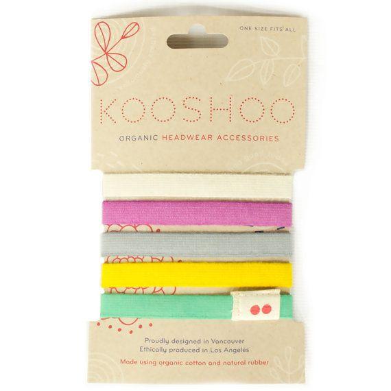 Colorful LILA Hair Ties. Premium Organic Cotton von KOOSHOO auf Etsy