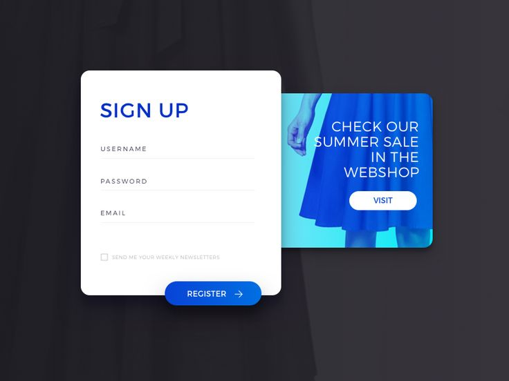 UI Experiments: Sign Up form