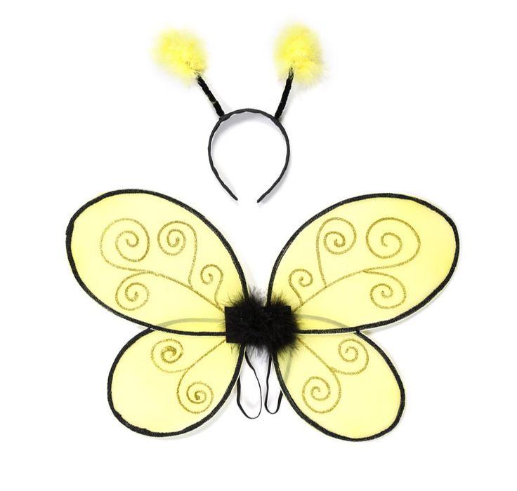 ali da apina decorate con brillantini e abbinate ad antenne con morbidissimi pon pon
