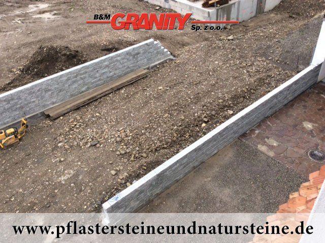 B&M GRANITY - Eine Natursteinmauer kann so individuell sein…Die Mauer aus Naturstein kann traditionell, modern, rustikal, antik usw. sein. Es gibt so viele Varianten…Diesmal… eine Mauer aus Granit (gesägt-gespaltene, graue Granit-Mauersteine)  http://www.pflastersteineundnatursteine.de/fotogalerie/mauersteine/