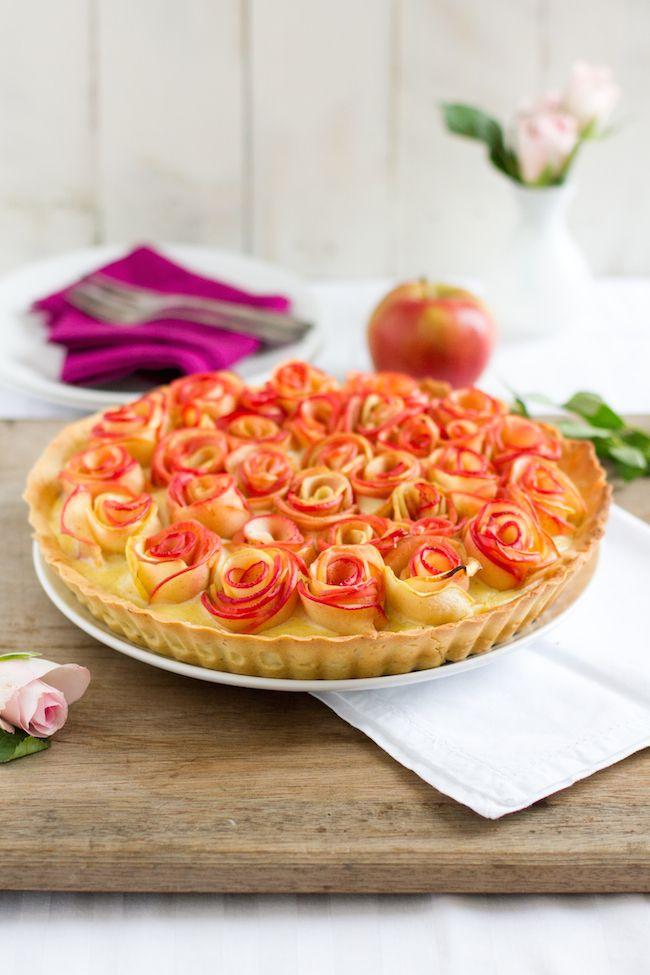 haseimglueck.de Rezept, Apfelrosen Kuchen 1
