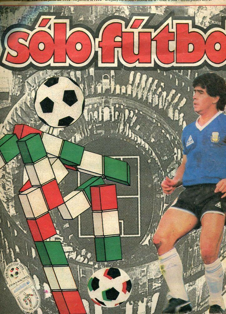 Fifa World Cup Italy 1990 Diego Maradona Previus Magazine Ebay In 2020 Diego Maradona Fifa World Cup World Cup